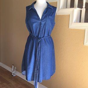 Old Navy Denim Jumper Dress Sleeveless Sz XL